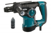 Эл.перфоратор Makita HR2811FT б\з SDS+,3р,800Вт,0-455\м,2.9Дж,,ч,п\св,б\п